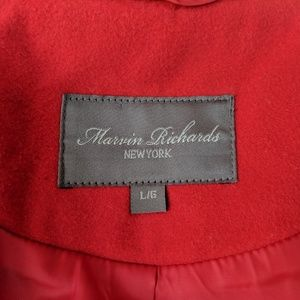 Marvin Richards Jackets & Coats - MARVIN RICHARDS Belted Moto Coat L